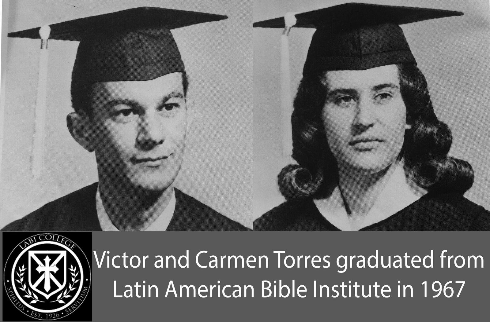 Victor and Carmen graduation 1967